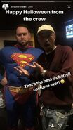 Scooter Braun as Superman and Pharrel Williams on Studio (1)