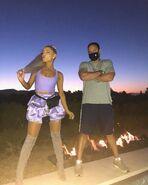 Ariana at Coachella 2018 backstage with Jones Crow