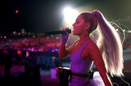 Ariana at Coachella 2018 performing No Tears Left To Cry (17)