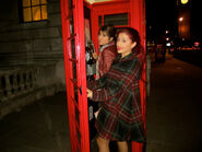 October 17, 2011 ari & danielle in a phone booth