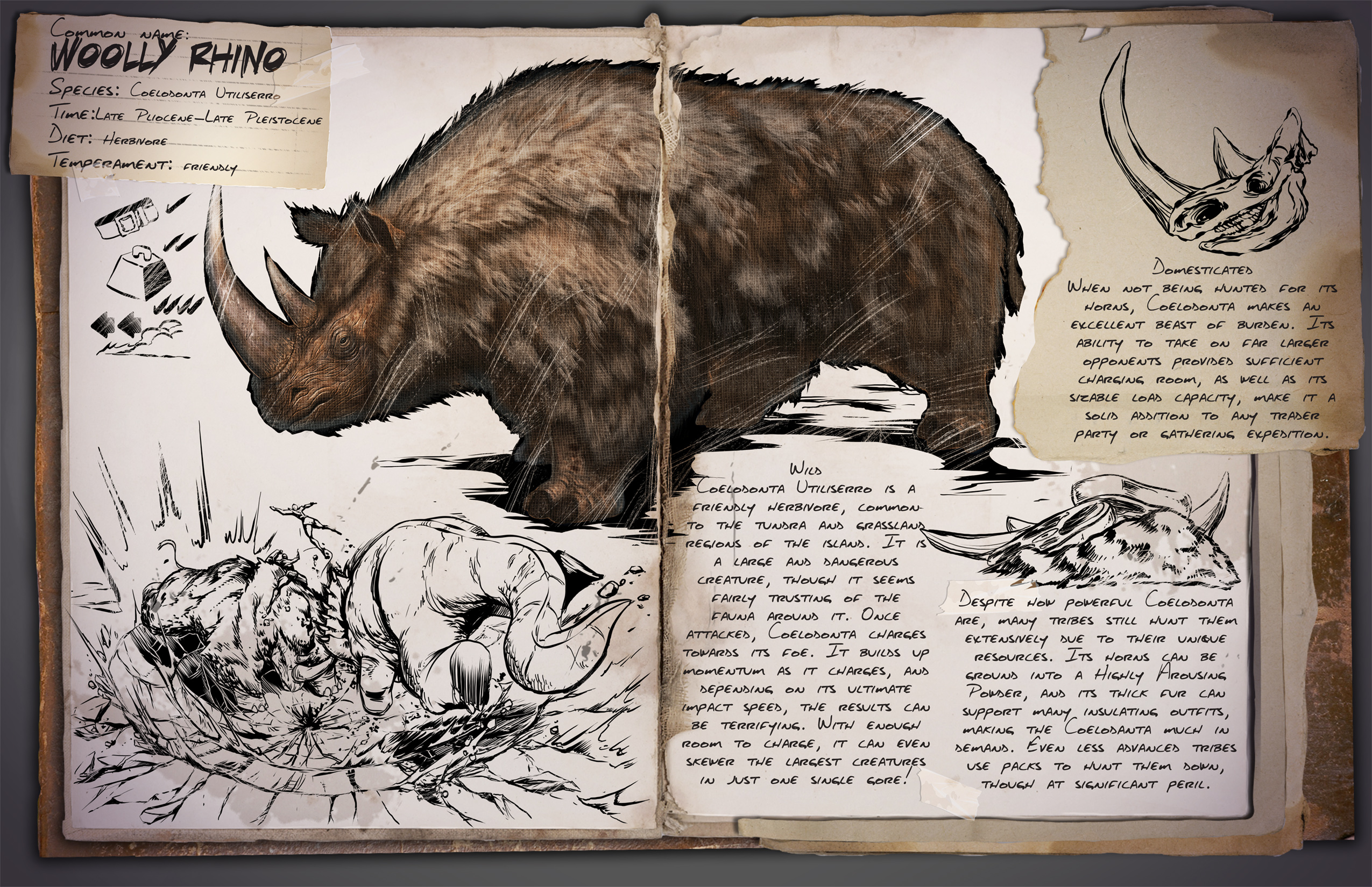 Woolly Rhino Ark Survival Evolved Wiki Fandom It can be tamed and ridden, however, taming it is quite a difficult task. woolly rhino ark survival evolved