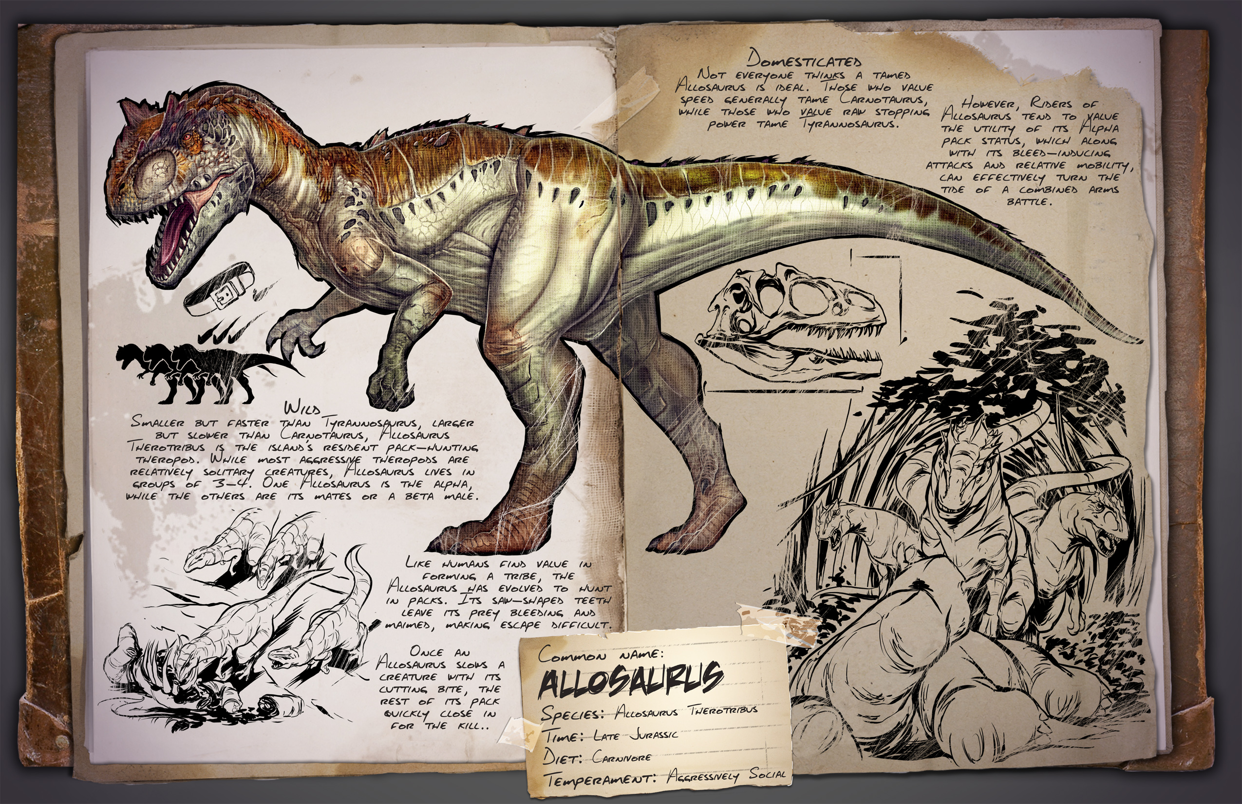 Allosaurus Ark Survival Evolved Wiki Fandom We tame a pack of daeodons and put them to the test! allosaurus ark survival evolved wiki
