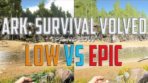 ARK SURVIVAL Evolved – Low VS Epic – GRAPHICS QUALITY TEST COMPARISON – PC GAMEPLAY WINDOWS 10