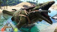 Capturando-nuevo-mosasaurus-gigante-nueva-actualización-villatuber-56-ark-survival-evolved