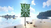 Spider Flag Green