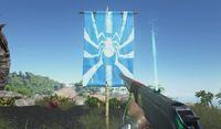 Spider Flag Blue