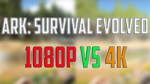 ARK SURVIVAL Evolved 1080p vs 4K – GRAPHICS QUALITY COMPARISON TEST - PC GAMEPLAY WINDOWS 10