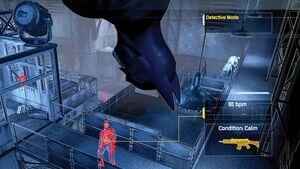 Predator Mode in Batman: Arkham Asylum