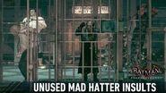 AUDIO; Batman; Arkham Knight; Unused Mad Hatter Comments-2