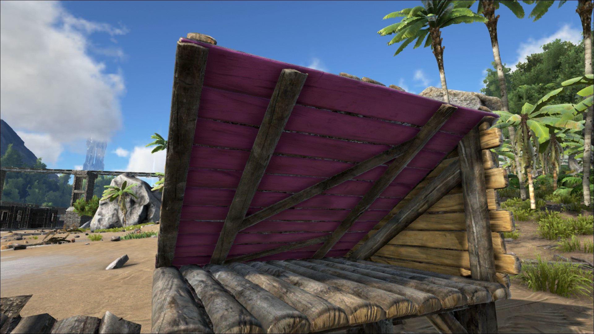 sloped wooden roof official ark survival evolved wiki