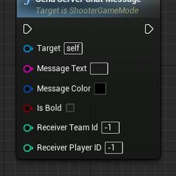 Send Server Chat Message