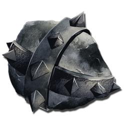 スパイク付きの岩