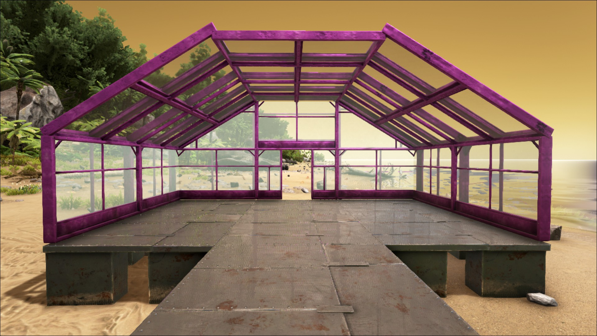 sloped greenhouse roof official ark survival evolved wiki