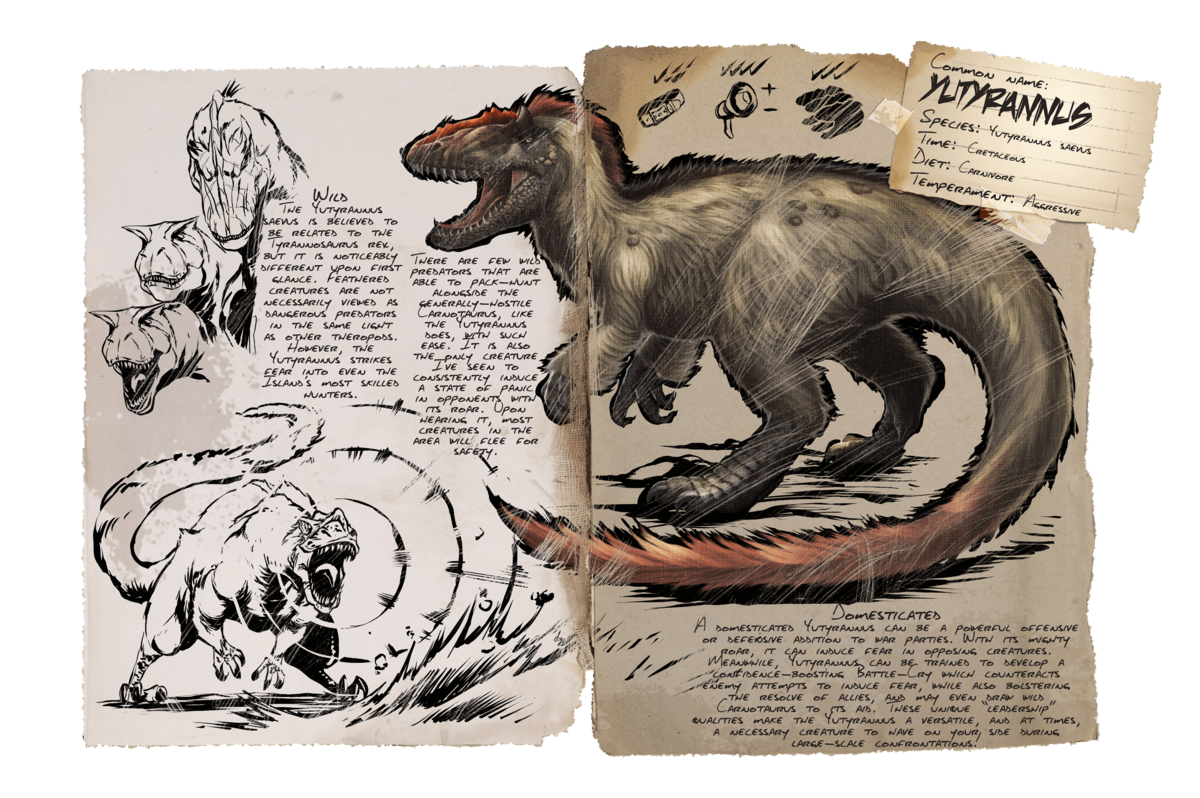 Yutyrannus Official Ark Survival Evolved Wiki I have a daeodon and it's heal ability with a green area of effect seems to turn on and off randomly. ark survival evolved wiki