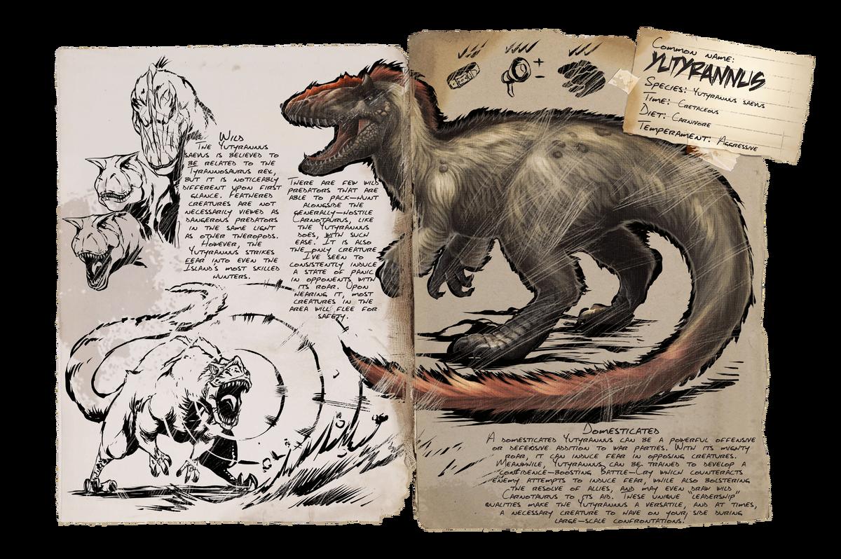 Yutyrannus Official Ark Survival Evolved Wiki