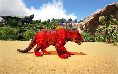Mod Ark Eternal Elemental Fire Thylacoleo Image.jpg