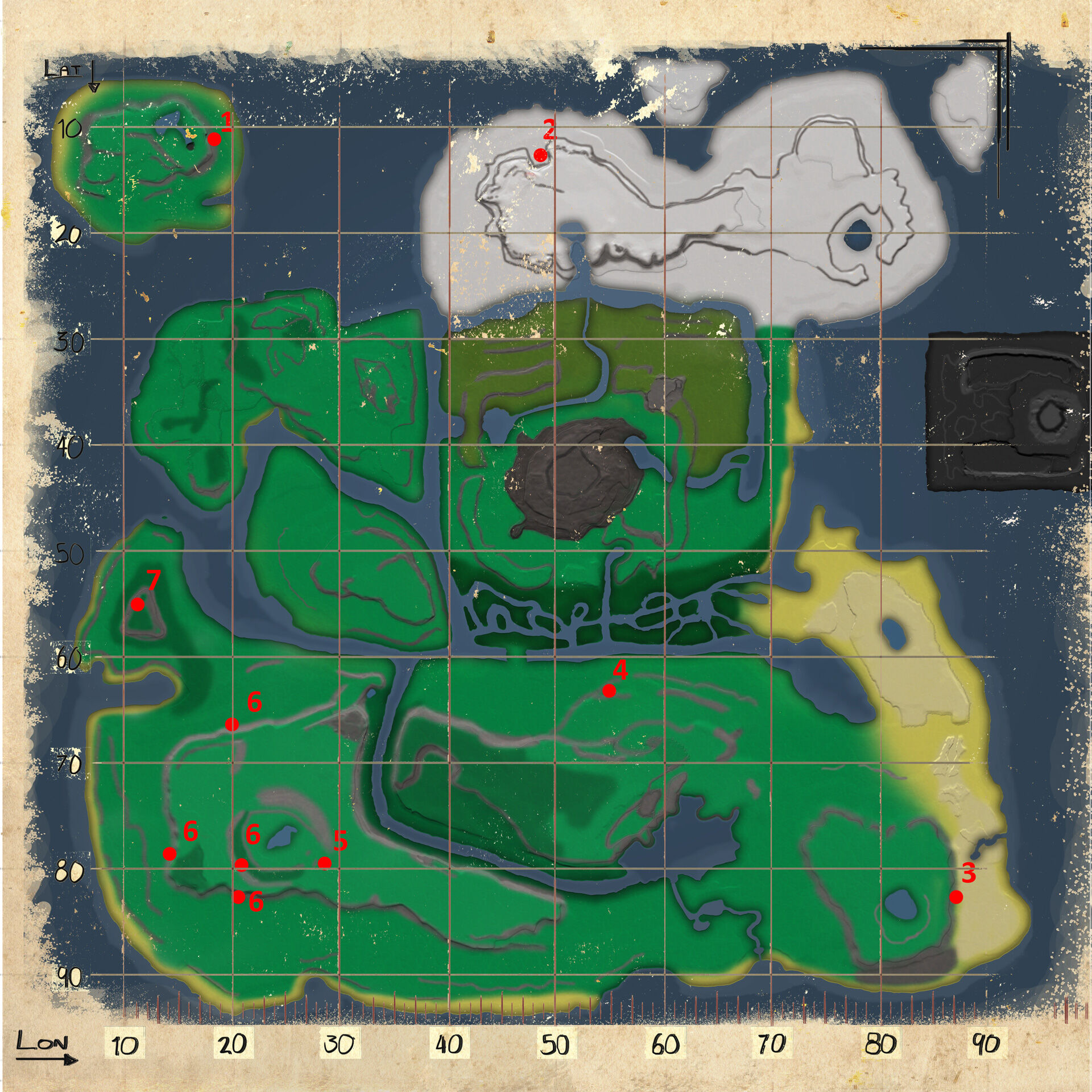 Mod Resource Map The Volcano Official Ark Survival Evolved Wiki As of release, the otter can only be found on two of the four maps: mod resource map the volcano