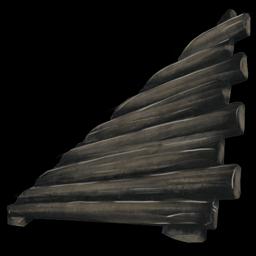 Sloped Wood Wall Left Official Ark Survival Evolved Wiki