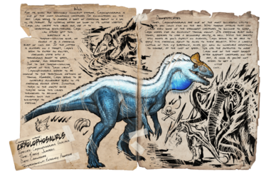 Mod ARK Additions Dossier Cryolophosaurus.png