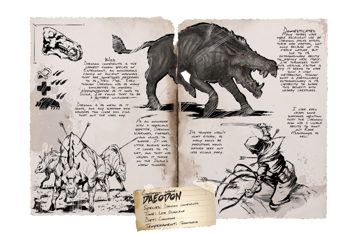 Daeodon Official Ark Survival Evolved Wiki What does enable passive healing do ? ark survival evolved wiki