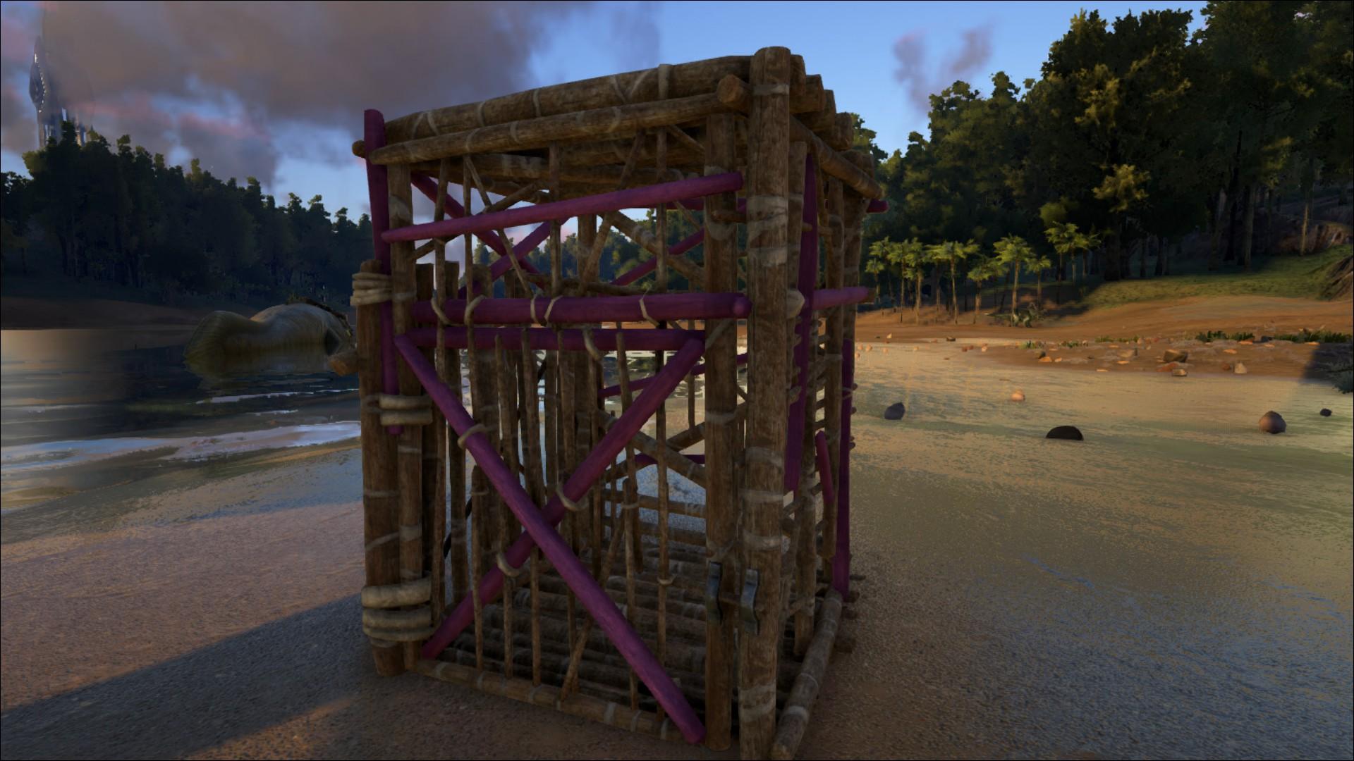 wooden cage official ark survival evolved wiki. Black Bedroom Furniture Sets. Home Design Ideas