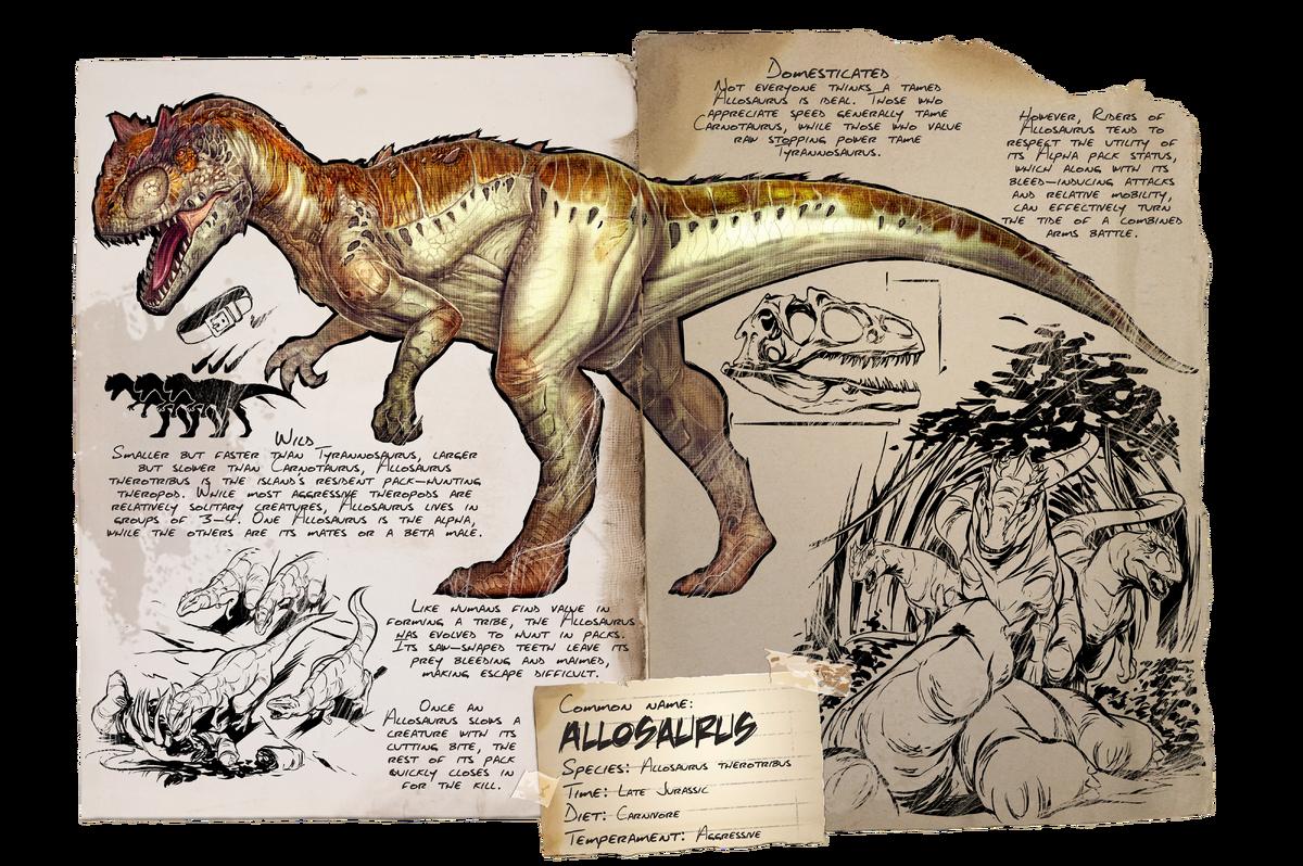 Allosaurus Official Ark Survival Evolved Wiki