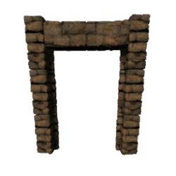 Brick Dinosaur Gateway (Primitive Plus)