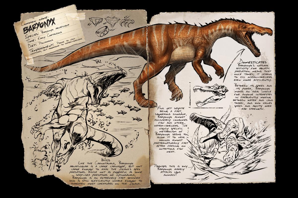 Baryonyx Official Ark Survival Evolved Wiki