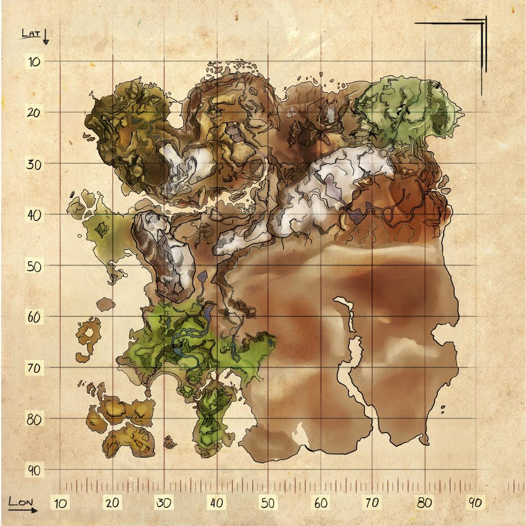 Explorer Map Ragnarok Official Ark Survival Evolved Wiki