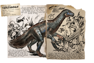 Therizinosaur Official Ark Survival Evolved Wiki Ark id for therizinosaurus saddle is therizinosaurussaddle. ark survival evolved wiki