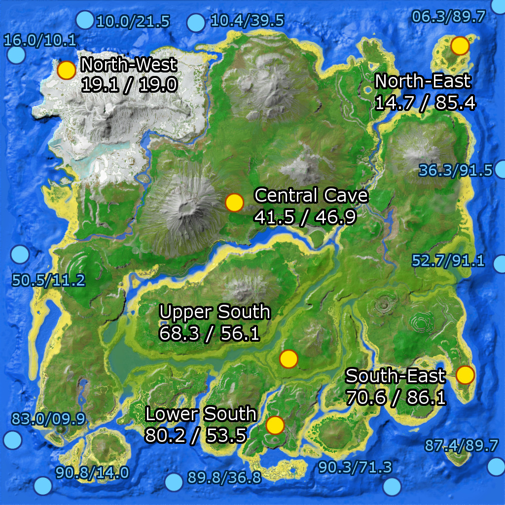 The Island Cave Locations