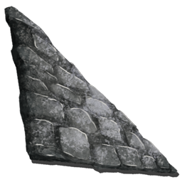 sloped stone wall right official ark survival evolved wiki. Black Bedroom Furniture Sets. Home Design Ideas