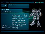 Arena AC2 Rank 50 Player profile 1
