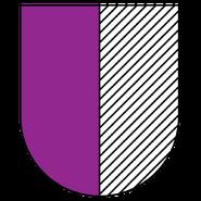 Skydas safiruote purpure