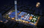 Houjieinternationalhomefurniturecenterbuilding rendering-night (c)guangdong news