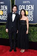 2020 Golden Globe Awards - Jason Bateman and Amanda Anka 01
