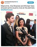 (04-29-13) 2013 Netflix S4 Premiere - Michael and Alia
