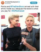 (04-29-13) 2013 Netflix S4 Premiere - Portia and Ellen