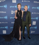 2015 GLAAD Awards - Portia and Ellen 1
