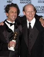 2005 Golden Globes - Brian Grazer and Ron Howard 01