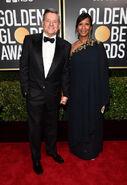 2020 Golden Globe Awards - Ted Sarandos and Nicole Avant 01