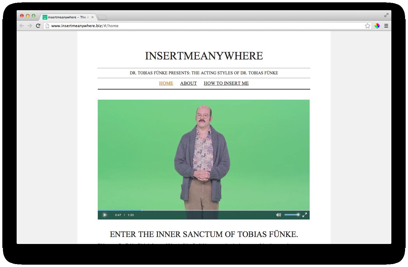 Insert Me Anywhere Website