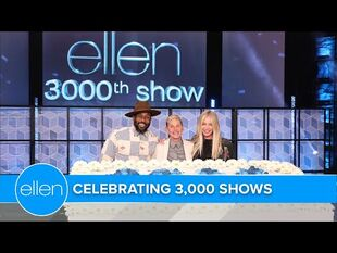 Portia and tWitch Help Celebrate Ellen's 3,000th Show! -