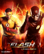 The Flash season 3 poster - Lightning strikes twice
