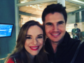 Robbie amell season 3 the flash set
