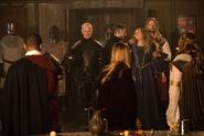 2.Legends of Tomorrow-Camelot 3000-Jax, Sara, Guenièvre, Rip Hunter et Damien Darhk