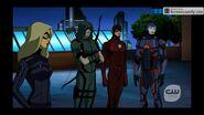 Black Canary, Green Arrow, Flash et l'ATOM 2.06