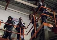 9.Thanksgiving Arrow Green Diggle, Mr. Terrific, Black Canary (II) et Wild Dog