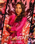 Poster saison 7 The Flash Iris West-Allen