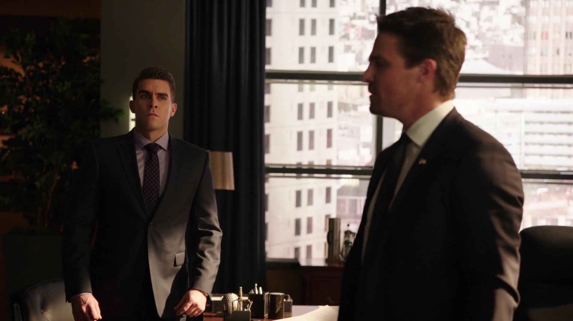 Adrian informs Oliver that his role in covering up Billy's death was leaked to the media.png
